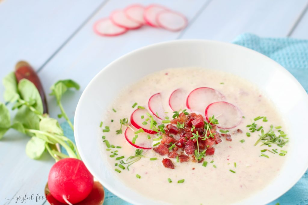 Kalte Radieschensuppe - wunderbar erfrischend