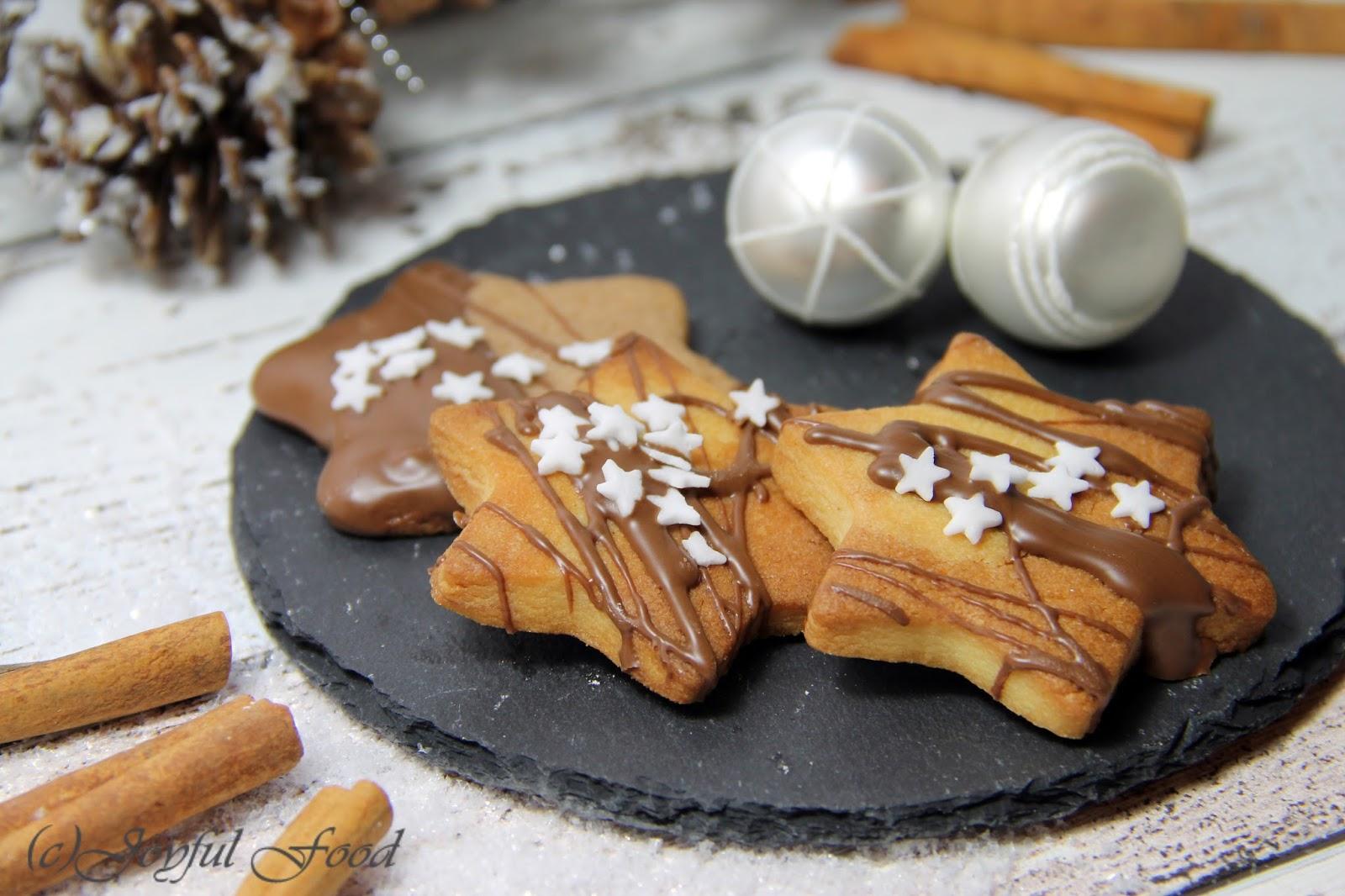 Weihnachtsplätzchen Eigelbverwertung.Nougatsterne Leckere Weihnachtsplätzchen Joyful Food