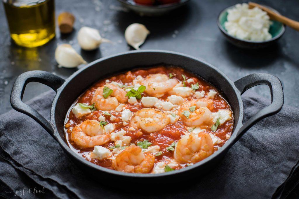 Shrimps Saganaki - griechische Länderküche mit Thalia