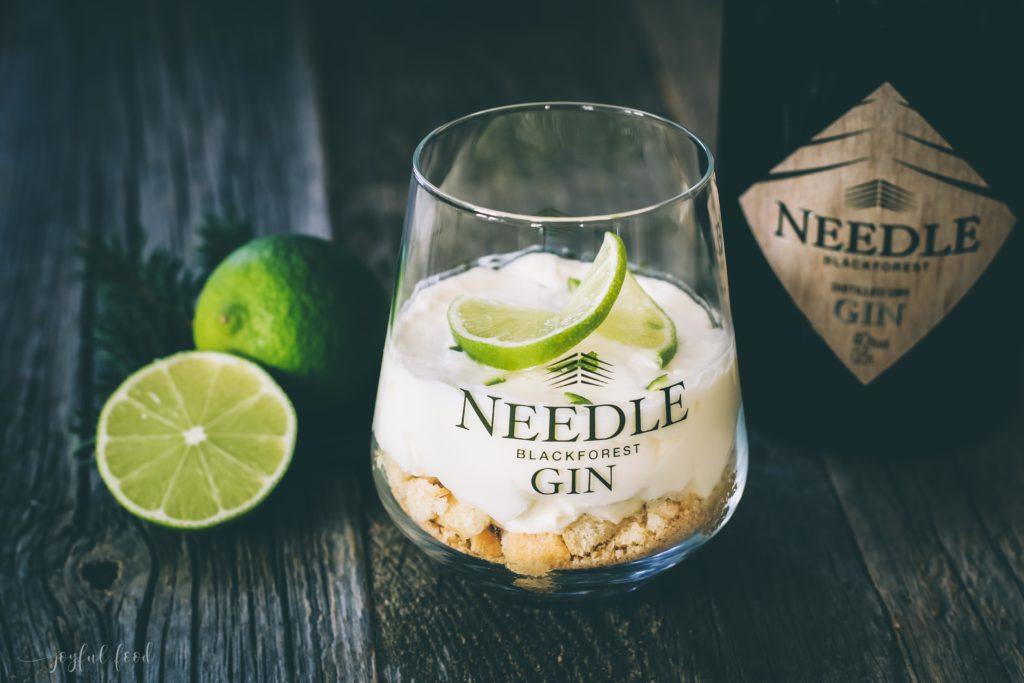 s e gin tonic dessert versuchung im glas mit needle gin joyful food. Black Bedroom Furniture Sets. Home Design Ideas